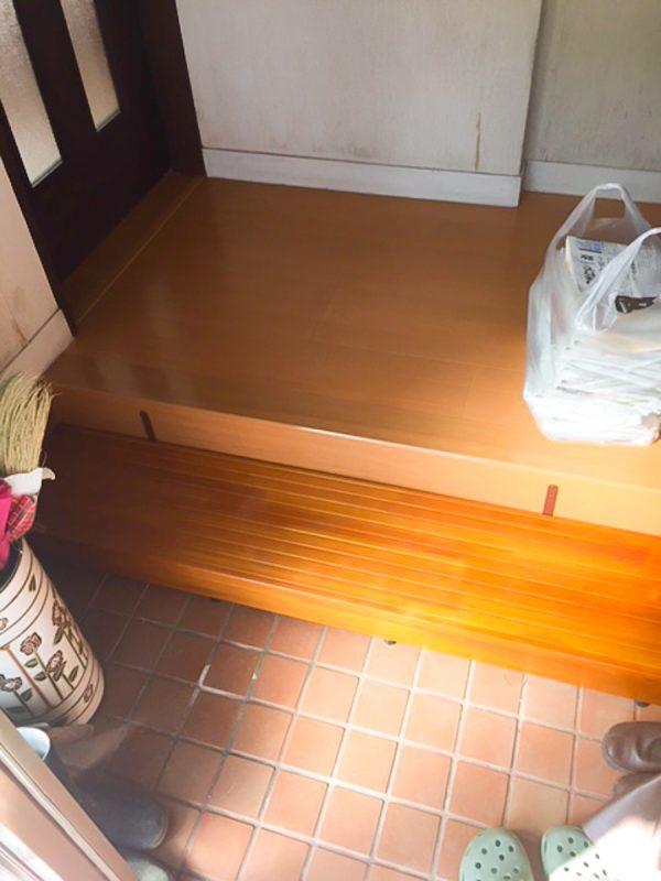 【段差解消】木製踏み台|工事代金 25,000円~